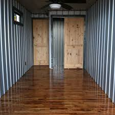40ft Converted Shipping Container House Cabinoff Grid