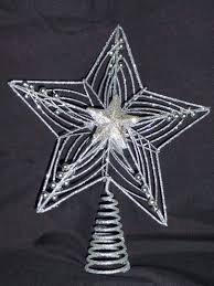 8ft Christmas Tree Uk by Christmas Decorations 30cm Large Silver Star Glitter And Beads
