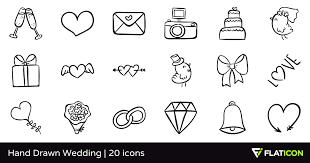 Drawn wedding cake icon 4