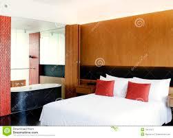 master bedroom open to bathroom stock image image of