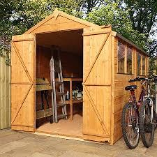10 x 6 waltons tradesman tongue and groove double door apex wooden