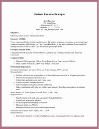 Federal Resumeemplates Examples Awesome Format Usa Sample Intended Resume Printable Example