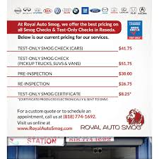 Brake And Lamp Inspection Sacramento by Royal Auto Smog 13 Photos Smog Check Stations 6723 Reseda