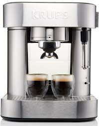 KRUPS XP6010 Pump Espresso Machine With Thermo Block System And Stainless Steel Housing Silver