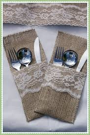 1376635634983 Burlap Silverware Rustic Diy Vintage Wedding Decor Sale