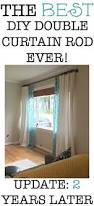 One Way Decorative Traverse Curtain Rods by Best 25 Double Curtain Rods Ideas On Pinterest Pipe Curtain