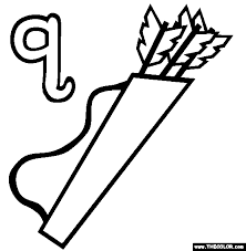 The Letter Q Online Alphabet Coloring Page