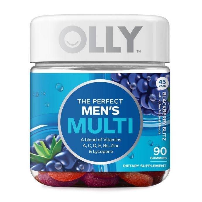 Olly Perfect Men's Multi Vitamin Gummy Supplements - Blackberry Blitz, 90ct