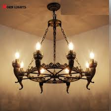 Antique Iron Chandelier Lights Bronze Light For Living Room Dining In Chandeliers From Lighting On Aliexpress