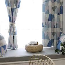 semi blackout geometrische gardinen für schlafzimmer lässige fenstervorhänge zimmer dunkel black out drapieren tülle fenster für wohnzimmer
