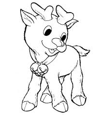 Printable Rudolph The Red Nosed Reindeer Coloring Pages For Kids