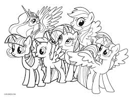 Free Printable My Little Pony Coloring Pages For Kids Cool2bkids Lovely Twilight Sparkle And Friends