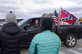 100 Confederate Flag Truck Flagflying Officer Suspended For Intimidating Crowd
