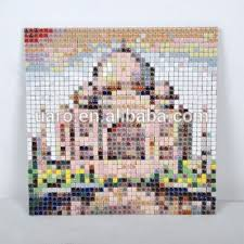 Taj Mahal Decoration DIY Handmade Arts And Crafts Mosaic Kit Christmas Craft