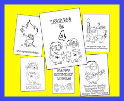 Minions Personalized Coloring Book