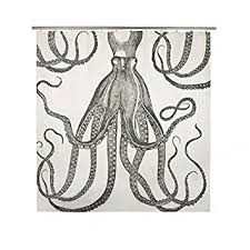 Amazon thomaspaul Octopus Shower Curtain Ink Home & Kitchen