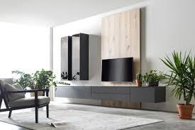 design wohnwand puristisch schön wohnung wohnzimmer