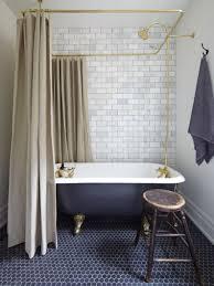 blue hexagon tile bathrooms marble subway tiles