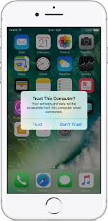About the Trust This puter alert on your iPhone iPad or
