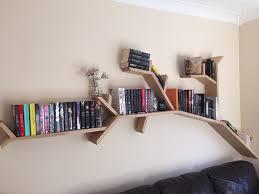100 Tree Branch Bookshelves The Oak Shelf