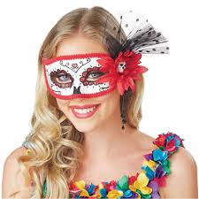 Halloween Costumes Memoirs Of A by Day Of Dead Pink Mask Halloween Costume Accessory Walmart Com