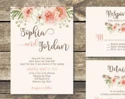 Printable Wedding Invitation DIY Floral Watercolor