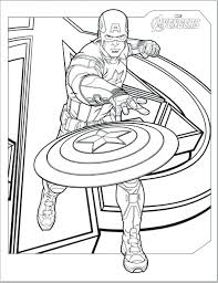 Coloring Pages Captain America Avengers For Kids Lego Civil War