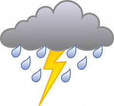 Unique Storm Clipart Rain Cloud With Lightning Bolt Free Clip Art