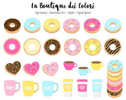 570x453 60 Doughnut Clipart Cute Digital Illustrations PNG Donuts And