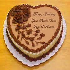 Happy Birthday Cake Lover Name Forever Love