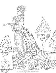 Free Printable Victorian Woman Adult Coloring Page Download It In PDF Format At