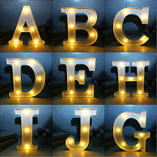 9 Metal LED Marquee Letter Lights Vintage Circus Style Alphabet