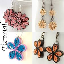 Image Of Honeys Quilling Flower Earrings Tutorial