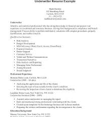 Under Writer Resume Alluring Sample Of Underwriting Assistant About Mortgage Underwriter Summary Insurance
