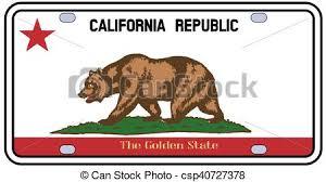 California License Plate Flag