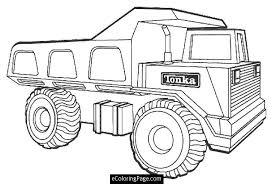 Tonka Dump Truck Printable Coloring Page Ecoloringpage