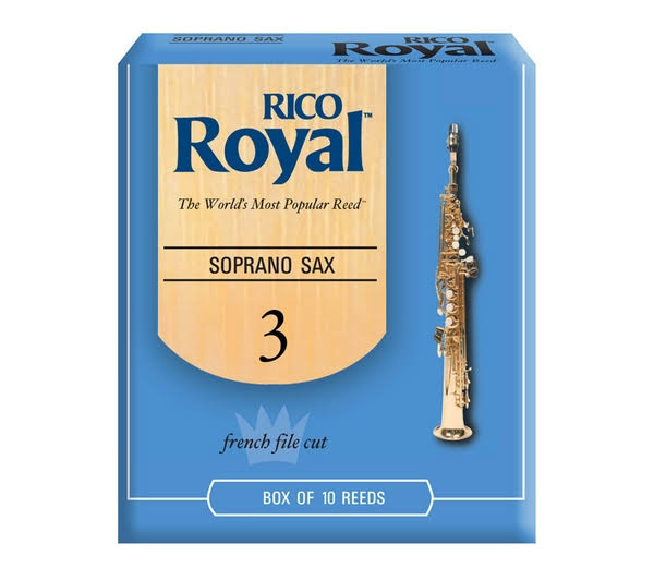Rico Royal Soprano Saxophone Reeds - Box of 10, 3.0 Strength