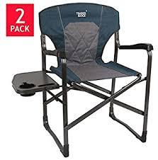 Timber Ridge Folding Lounge Chair by Amazon Com Aluminum Frame Timber Ridge Director U0027s Chair 2 Pack