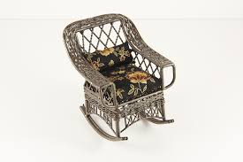 Wicker Rocking Chair With Black And Gold Floral Fabric - Dollhouse Alley Vintage White Wicker Rocking Chair Renewworks Home Decor Wisdom And Koenig Interior Iron Rocking Chair Designer Outdoor Villa Back Yard Rattan Alinum Chairs Lounge Rocker Agha Interiors Blue Heron Pines Homeowners Association Cape Cod Kampmann With Cushions Reviews Joss Coral Coast Mocha Resin Beige Cushion Terrace Leisure Fniture With High And Alinium Tortuga Portside Classic Wickercom Aliexpresscom Buy Giantex Patio