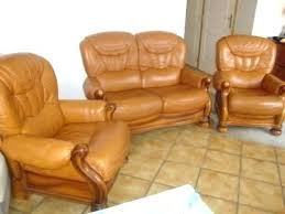 canape cuir rustique canape cuir et bois canape cuir occasion salon en cuir et bois