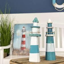 deko leuchttürme 35 cm türkis nautic home