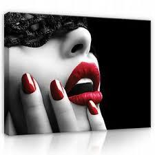 details zu leinwand bilder rot lippen frau erotik akt wohnzimmer flur wandbilder bild 813