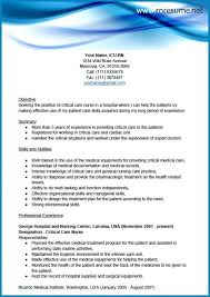 Critical Care Nurse Resume From Sample Icu Cardiac Samples