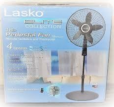 Lasko Table Fan With Remote by Lasko S18965 18 Pedestal 4 Speed Fan W Remote Thermostat