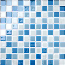 glass mosaic for swimming pool tile blue white mix