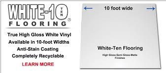 White 10 Trade Show And Event Vinyl Flooring Stark Gloss Flex High