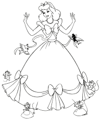 Good Cinderella Coloring Page 15 About Remodel Pages For Kids Online With