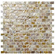 Home Depot Merola Penny Tile by Merola Tile Conchella Subway Natural 11 3 4 In X 11 3 4 In X 2