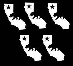 Image Is Loading Set Of 5 California Republic Cali State