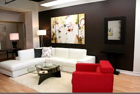 Yellow Black And Red Living Room Ideas by Living Room Living Room Design Red Wall Color White Sectional
